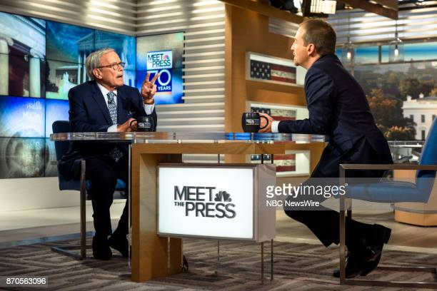 Tom Brokaw NBC News Special Correspondent and moderator Chuck Todd appear on Meet the Press in Washington DC Sunday Nov 5 2017