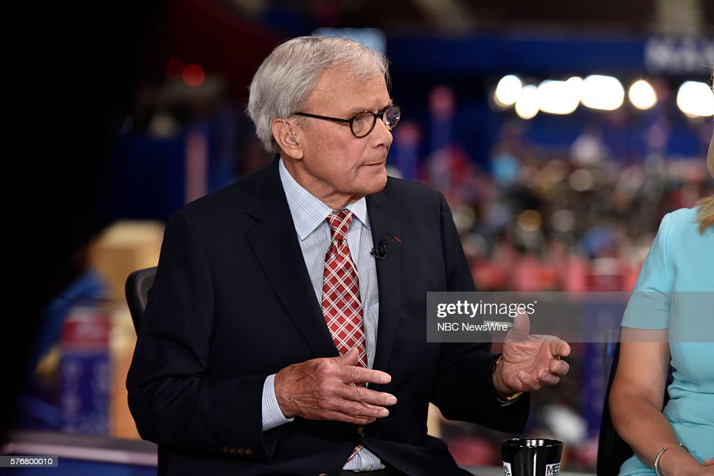 Tom Brokaw, NBC News Special Correspondent appears on 'Meet the Press' in Cleveland, OH, Sunday July 17, 2016. --