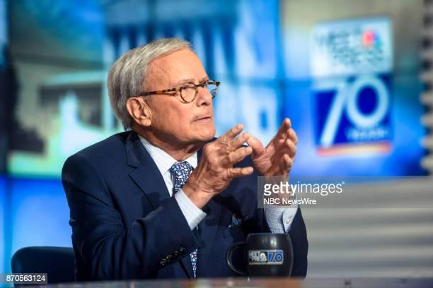 Tom Brokaw NBC News Special Correspondent appears on Meet the Press in Washington DC Sunday Nov 5 2017