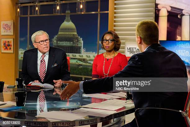 Tom Brokaw Special Correspondent NBC News Audie Cornish Host NPRs All Things Considered and moderator Chuck Todd appear on 'Meet the Press' in...