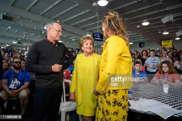 Tom Hanks Elizabeth Dole and Savannah Guthrie on Thursday May 23 2019