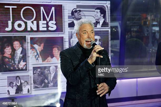 Tom Jones performs on the 'Today' show on Wednesday November 25 2015
