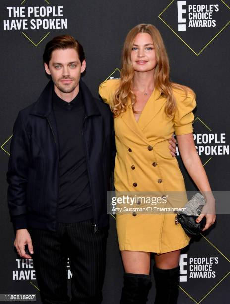 Tom Payne and Jennifer Akerman arrive to the 2019 E People's Choice Awards held at the Barker Hangar on November 10 2019 NUP_188989