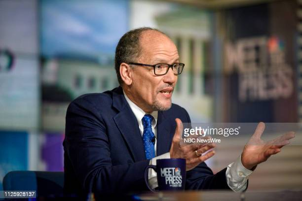 Tom Perez Chair Democratic National Committee appears on Meet the Press in Washington DC Sunday Feb 17 2019