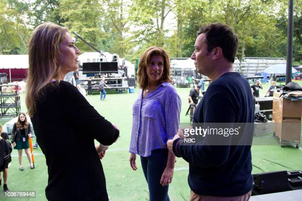 Tonight Show host Jimmy Fallon is took his late night show on the road to Central Park TODAYs Savannah Guthrie and Hoda Kotb joined Fallon for a...