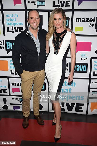 Tony Hale and Rebecca Romijn