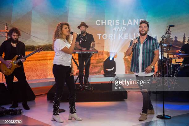 Tori Kelly and Chris Lane on Tuesday July 17 2018