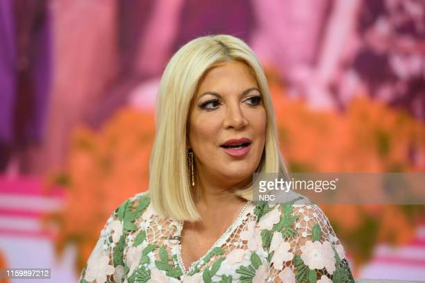 Tori Spelling on Monday, August 5, 2019 --