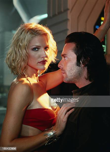 MINISERIES Pictured Tricia Helfer as Number Six James Callis as Dr Gaius Baltar