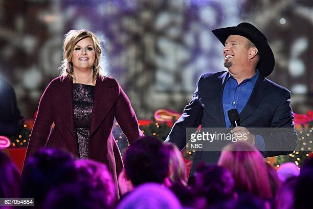 Trisha Yearwood and Garth Brooks rehearse for the 2016 Christmas in Rockefeller Center