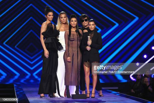 Pictured: TV personalities Kendall Jenner, Khloe Kardashian, Kim Kardashian West, Kris Jenner, and Kourtney Kardashian accept the The Reality Show of...