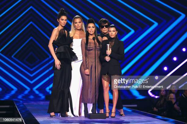 TV personalities Kendall Jenner Khloe Kardashian Kim Kardashian West Kris Jenner and Kourtney Kardashian accept the The Reality Show of 2018 award...