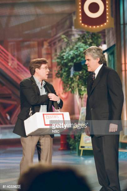 TV personality Bob Costas and host Jay Leno during a segment on May 5 1998