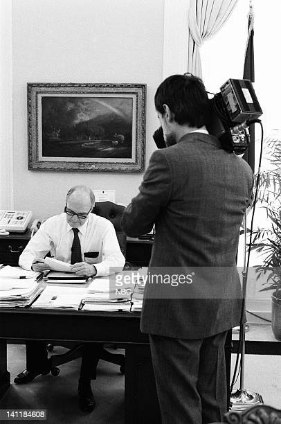 United States National Security Advisor Brent Scowcroft at the White House in Washington DC on February 27 1990