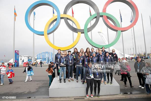 United States Women's Hockey Team from the 2014 Olympics in Socci