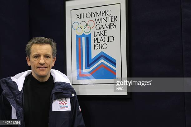 USA Women's Hockey Coach Mark Johnson drops by NBC Photo by Ben Cohen/NBCU Photo Bank