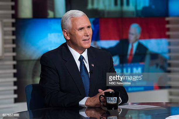 VicePresident Elect Gov Mike Pence appears on 'Meet the Press' in Washington DC Sunday Dec 04 2016