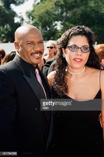 Ving Rhames wife Valerie Rhames arrives at the 50th Annual Primetime Emmy Awards held at the Shrine Auditorium in Los Angeles CA on September 13 1998