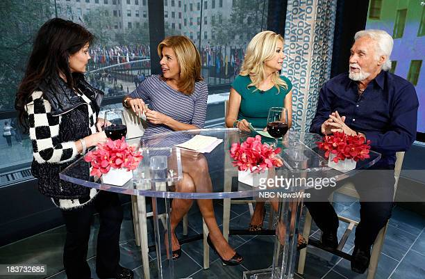 Wanda Miller Hoda Kotb Kathie Lee Gifford and Kenny Rogers appear on NBC News' Today show