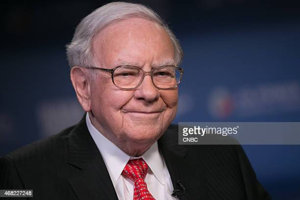 Pictured: Warren Buffett, CEO of Berkshire Hathaway and one of the world's wealthiest people, in an interview on March 31, 2015 --
