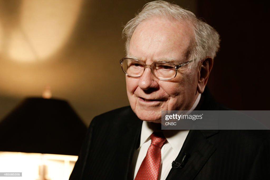 Warren Buffett in his office in Omaha, Nebraska, on August 4, 2015 --