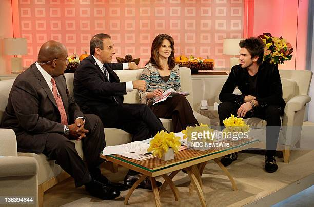 Weather and Feature Reporter Al Roker CoAnchor Matt Lauer and National Correspondent Natalie Morales speak with musical guest Juanes on NBC News'...