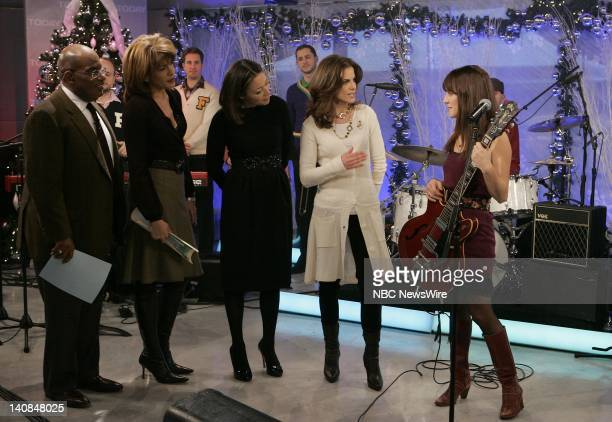 Weather and Feature Reporter Al Roker Correspondent Hoda Kotb News Anchor Ann Curry and National Correspondent Natalie Morales speak with singer...