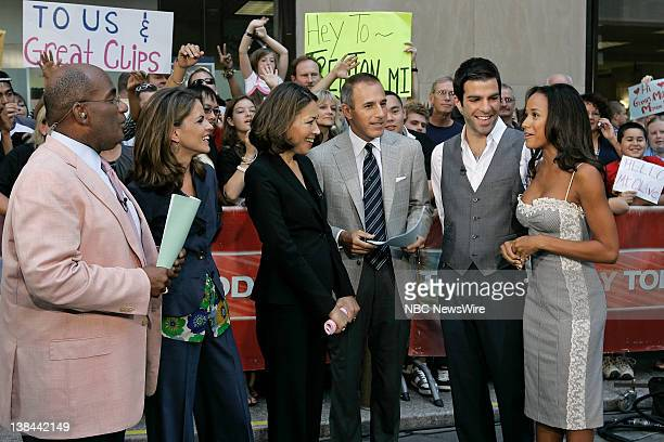 Weather and Feature Reporter Al Roker National Correspondent Natalie Morales Anchor Ann Curry CoAnchor Matt Lauer and actors Zachary Quinto and Dania...