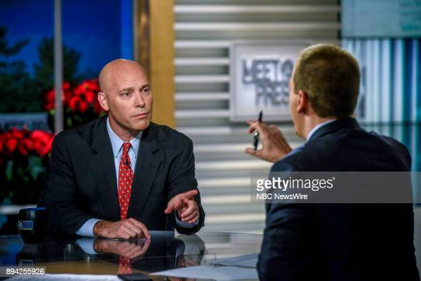 White House Legislative Affairs Director Marc Short and moderator Chuck Todd appear on 'Meet the Press' in Washington DC Sunday Dec 17 2017
