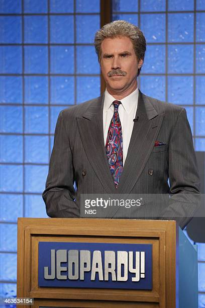 Will Ferrell as Alex Trebek during the Celebrity Jeopardy skit on February 15 2015