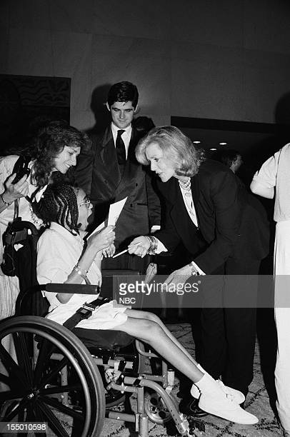 William Kennedy Smith Lauren Bacall with guests during the From the Heart The First International Very Special Arts Festival held on June 17 1989 in...