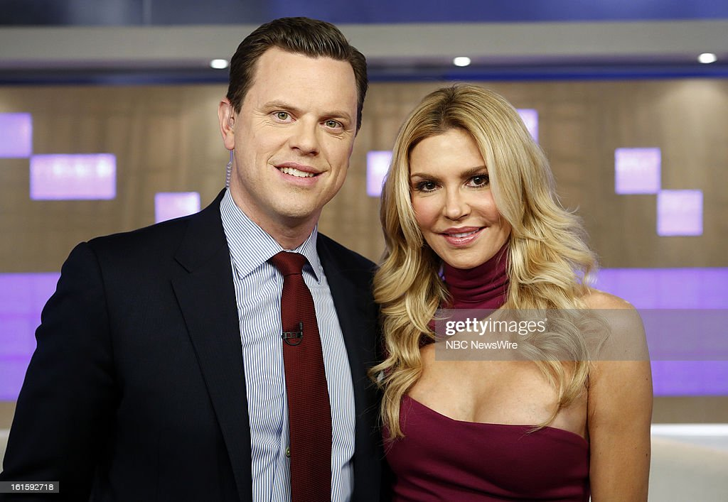 Willie Geist and Brandi Glanville appear on NBC News' 'Today' show --