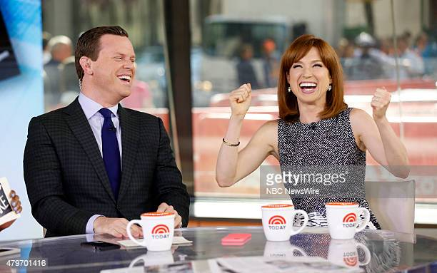 Willie Geist and Ellie Kemper appear on NBC News' Today show
