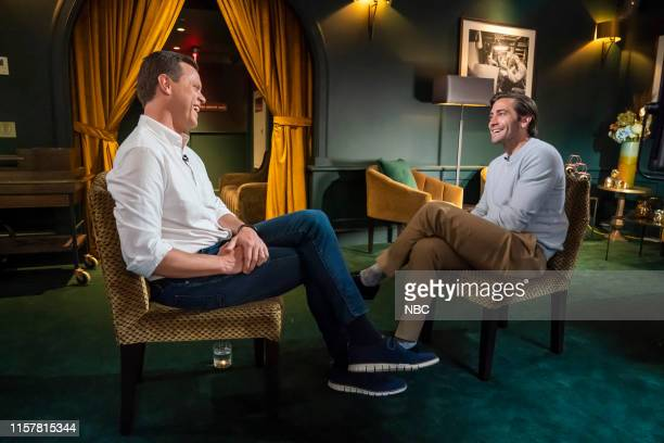 Pictured: Willie Geist and Jake Gyllenhaal on July 28, 2019 --