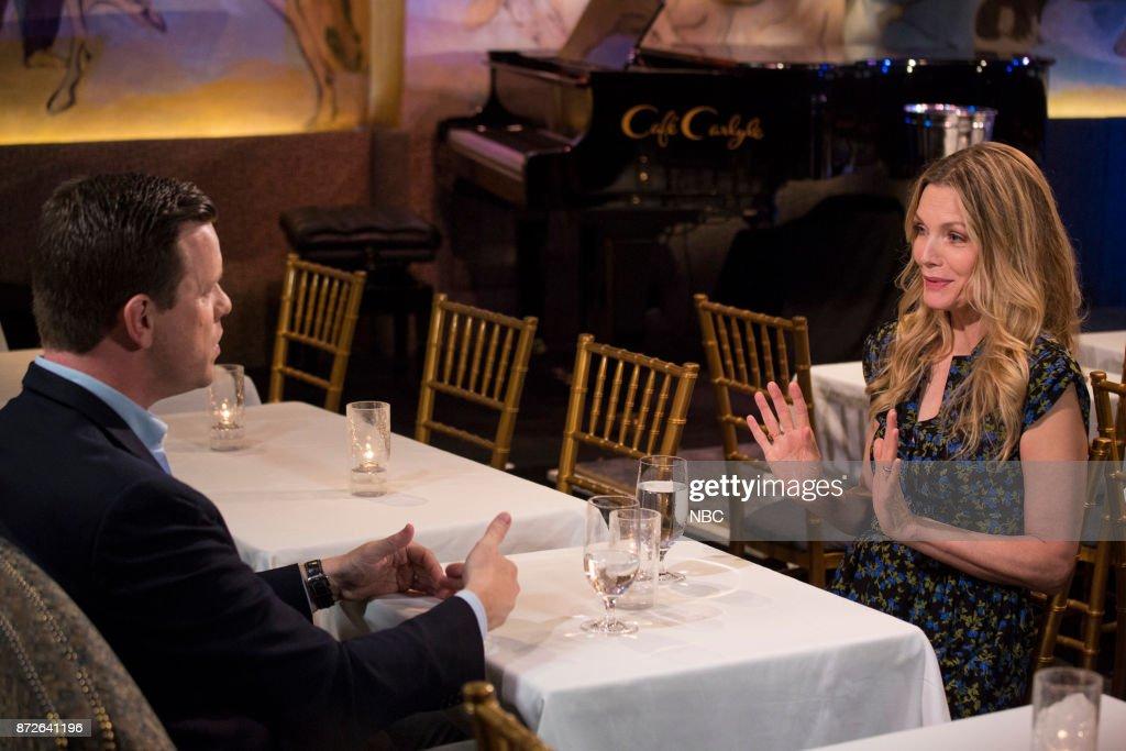 Willie Geist and Michelle Pfeiffer on November 6, 2017 --