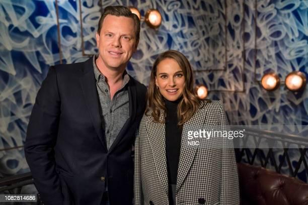 Willie Geist and Natalie Portman on January 13 2019