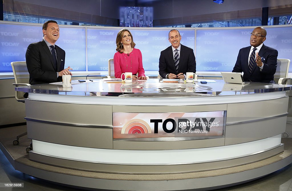Willie Geist, Natalie Morales, Matt Lauer and Al Roker appear on NBC News' 'Today' show --