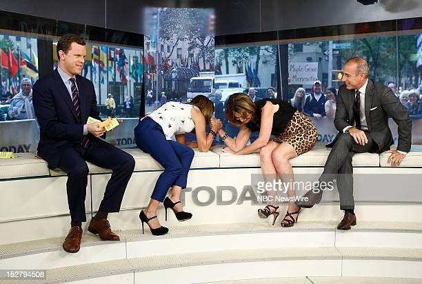 Willie Geist Natalie Morales Savannah Guthrie and Matt Lauer appear on NBC News' 'Today' show