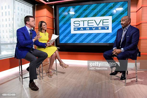 Willie Geist Savannah Guthrie and Steve Harvey appear on NBC News' Today show