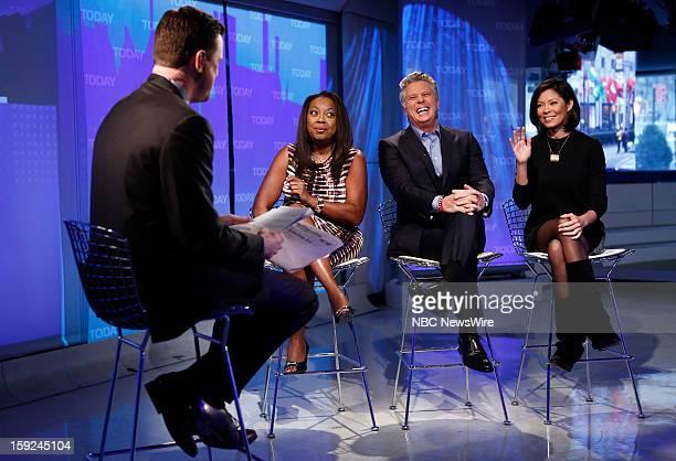Willie Geist Star Jones Donnie Deutsch and Alex Wagner appear on NBC News' Today show