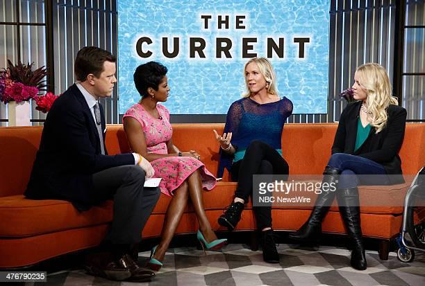 Willie Geist Tamron Hall Bethany Hamilton and Mallory Weggemann appear on NBC News' 'Today' show