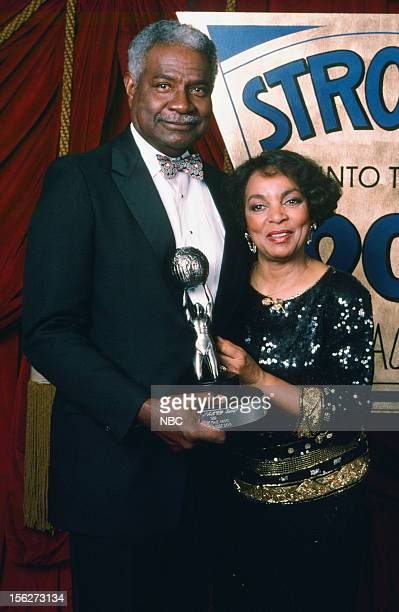 Winners of the Hall of Fame award actor Ossie Davis actress Ruby Dee during the 22nd NAACp Image Awards held at The Wiltern Theatre on December 9 1989
