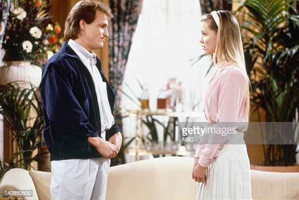 Woody Harrelson as Woody Boyd Jackie Swanson as Kelly Gaines Photo by NBCU Photo Bank