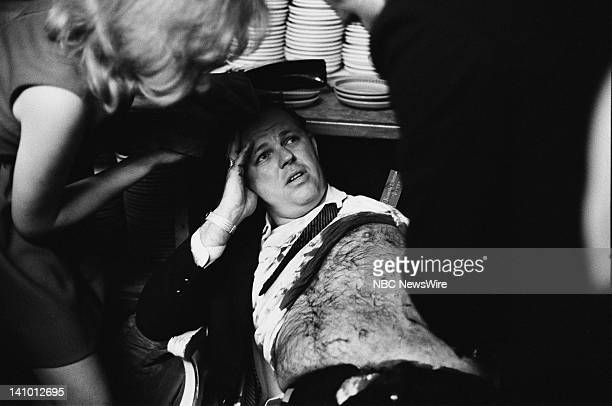 Wounded ABC television director Bill Weisel who was shot by assassin Sirhan Sirhan who killed Robert Kennedy on June 5 1968 during his Presidential...