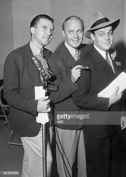 Writer Eddie Beloin host Jack Benny writer Bill Morrow in 1939