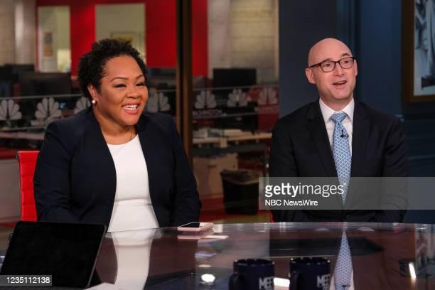 Pictured: -- Yamiche Alcindor, White House Correspondent, PBS NewsHour; Moderator, PBS Washington Week; NBC News Contributor, and Matt Bai,...