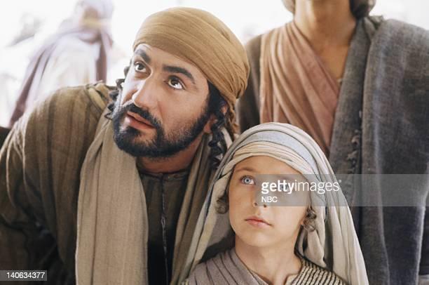 Yorgo Voyagis as Joseph Lorenzo Monet as Jesus aged 12 years Photo by NBC/NBCU Photo Bank