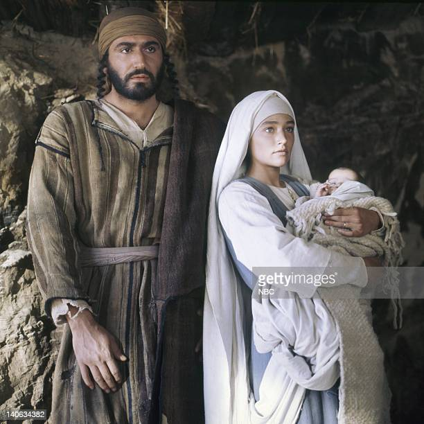 Yorgo Voyagis as Joseph Olivia Hussey as Mary the mother of Jesus unknown as baby Jesus Photo by NBC/NBCU Photo Bank