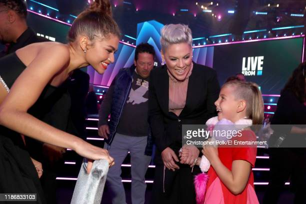 Zendaya Pink and Willow Hart during the 2019 E People's Choice Awards held at the Barker Hangar on November 10 2019 NUP_188993