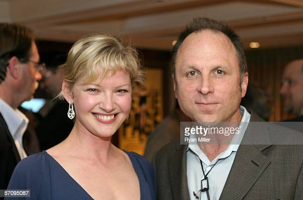 """Picturehouse President Bob Berney and actress Gretchen Mol attend the Picturehouse cocktail reception for the film """"The Notorious Bettie Page"""" during..."""